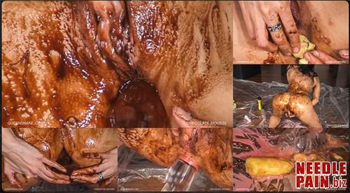 0004 QS Chocolate Mousse m - Chocolate Mousse - Queensnake, wet, messy, dirty, anal, toys