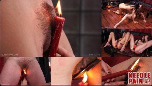 0026 QS Fire Vixens m - Fire Vixens - Queensnake, Nazryana, burning, candles