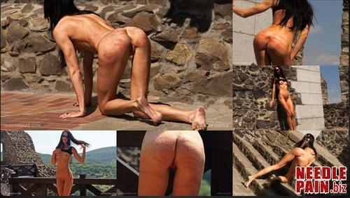0044 QS Crow Castle m - Crow Castle - Queensnake, whipping, flogging, flashing, welts