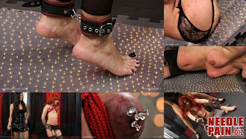 0077 QS Tack Carpet m - Tack Carpet - Queensnake, Greta, thumbtack, humiliation, lezdom