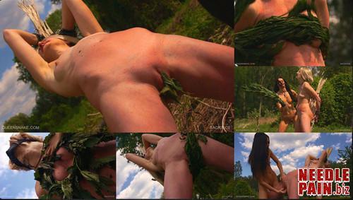 0082 QS Sacrifice m - Sacrifice - Queensnake, Nazryana, nettle, lezdom, whipping, outdoor