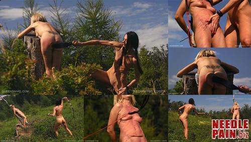 0099 QS Bullwhipped Greta m - Bullwhipped Greta - Queensnake, spanking, flogging, welts, bruises