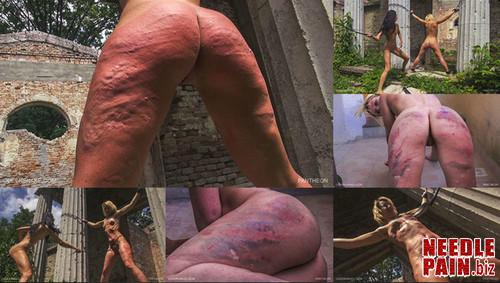 0136 QS Pantheon m - Pantheon - Queensnake, Tracy, whipping, outdoor, lezdom, welts