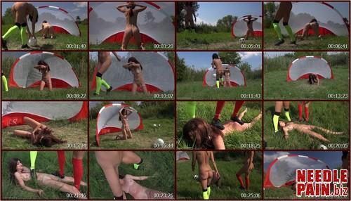 0216 QS Soccer Girls.t m - Soccer Girls - Queensnake, Tanita, Nazryana, kicking, trampling, ball