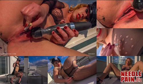 0291 QS Smokey m - Smokey - Tracy, smoking, cigarette, burning, orgasm, squirt