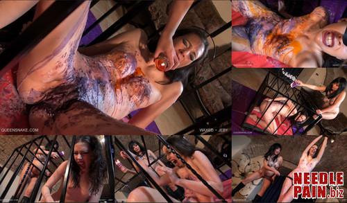 0380 QS Waxed   Jeby m - Waxed - Jeby - Diamond, hot wax, candles, burning, whipping