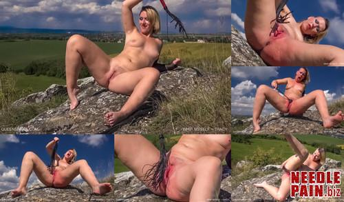 0390 QS Whip Myself   Tracy m - Whip Myself - Tracy -  spanking, whipping, flogging, outdoor, squirt
