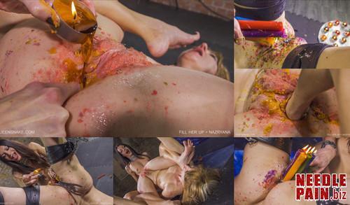0420 QS Fill Her Up   Nazryana m - Fill Her Up - Nazryana - candles, Queensnake, cunt stuffing, 4K UHD
