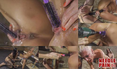 0436 QS Brush Drilldo   Holly m - Brush Drilldo - Holly - hairbrush, Queensnake, cunt stuffing, 4K UHD