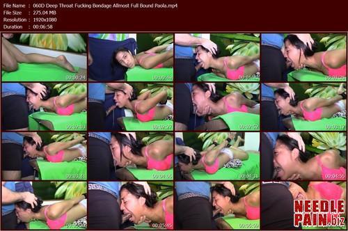 060D Deep Throat Fucking Bondage Allmost Full Bound Paola.t m - Deep Throat Fucking Bondage Allmost Full Bound Paola 060D
