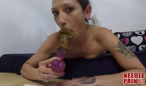 KV GIRL   Shit on a Stick m - KV-GIRL - Shit on a Stick - dildo, scat, shit in mouth