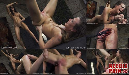 0472 QS Cunt Busters   Lilith m - Cunt Busters - Lilith - flogging, Queensnake, whipping, 4K UHD