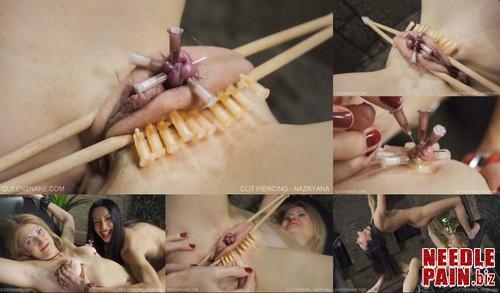 0477 QS Clit Piercing   Nazryana m - Clit Piercing - Nazryana - needles, Queensnake, piercing, 4K UHD