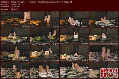 Foot Slave Graphic Food Crushing   Abigail Dupree   SensualPain 2019 05 22.t m - Foot Slave Graphic Food Crushing - Abigail Dupree - SensualPain