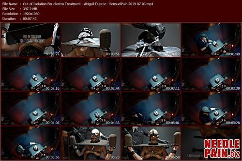 Out of Isolation For electro Treatment   Abigail Dupree   SensualPain 2019 07 03.t m - Out of Isolation For electro Treatment - Abigail Dupree