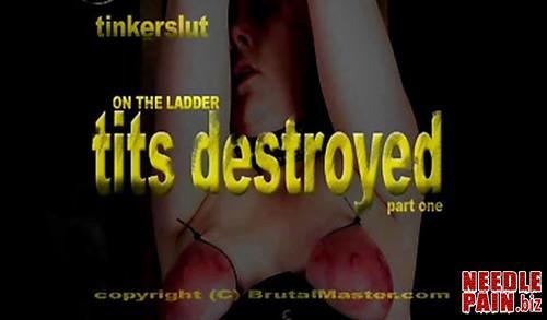 BrutalMaster   Tinkerslut   Tits Destroyed m - BrutalMaster - Tinkerslut - Tits Destroyed, tit torture, bdsm