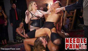 Orgy of BDSM Players Train Anal Submissives to Fuck and Serve