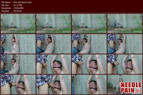 Pee and Sperm.t m - Pee and Sperm - Amateure-Xtreme, peeing, outdoor bondage, sperm