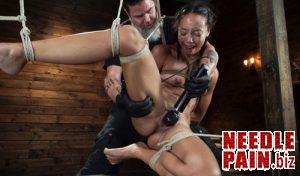 Alexis Tae's First Time Being tormented in Grueling Bondage