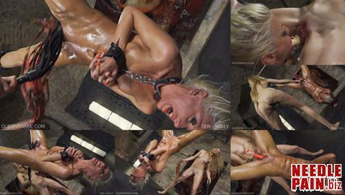 0505 QS Ten   Holly m - Ten - Holly - Nazryana, pussy torment, pussy whipping, 4K UHD